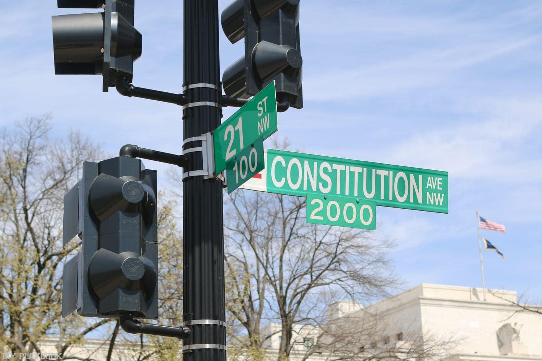 Street signs in Washington, DC.