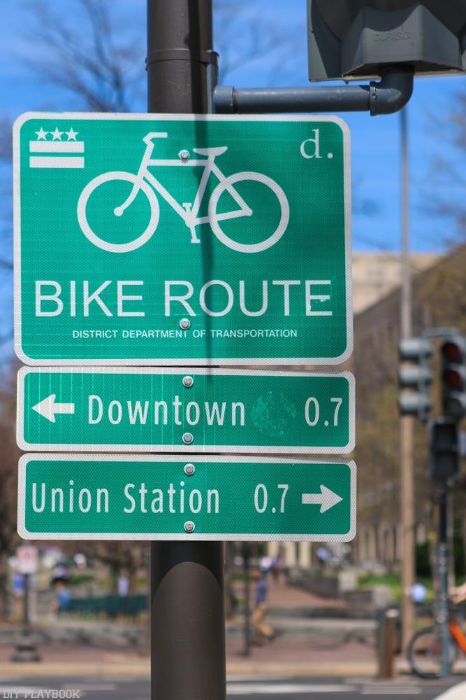 Washington, DC is a very bike-friendly town.