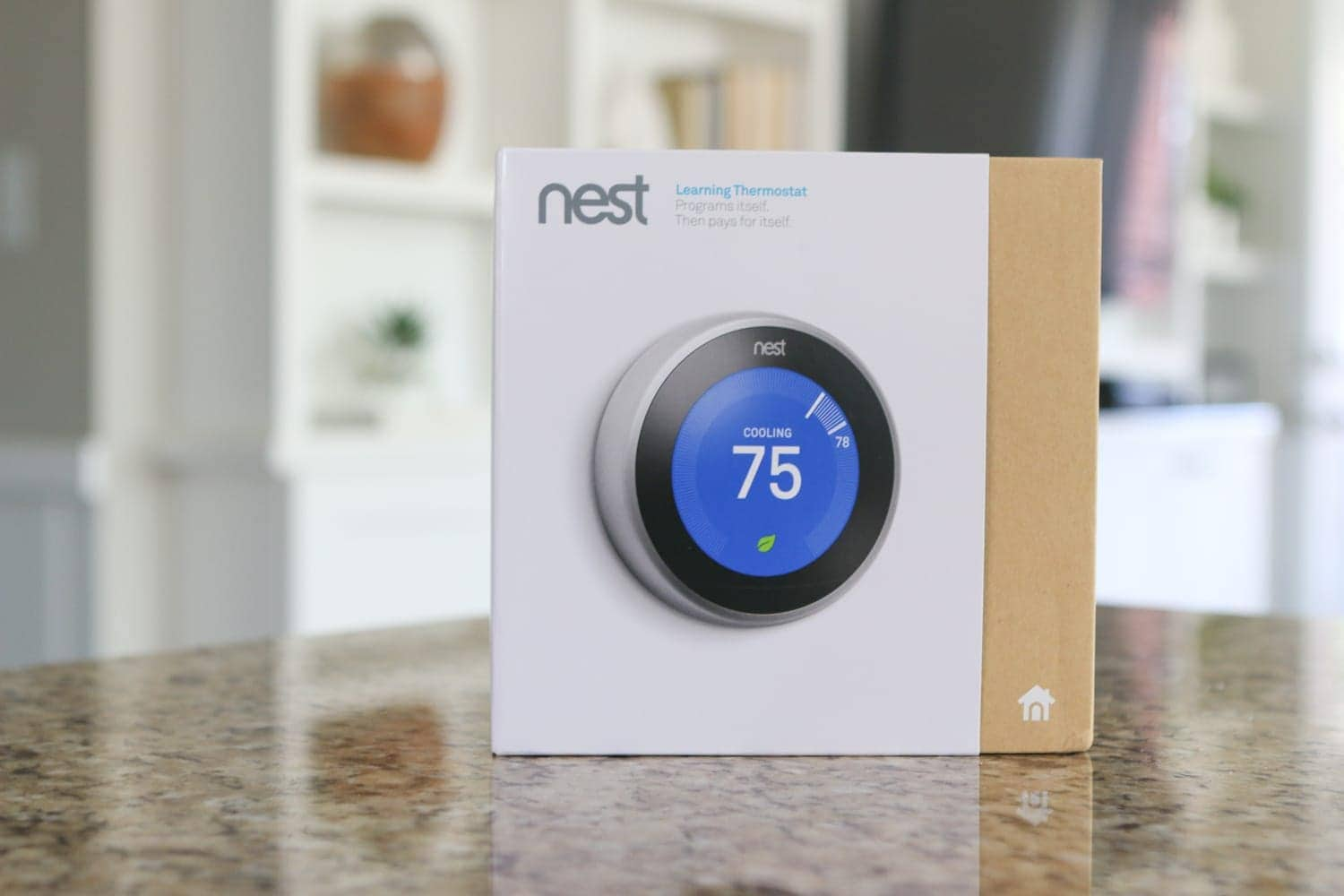This Nest thermostat came from Amazon; it's a great place to shop for home essentials because you can find almost everything and get fast delivery.