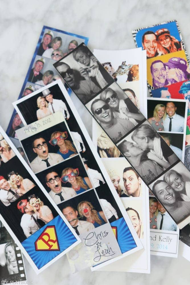 Photo booth photos are a great way to remember fun events