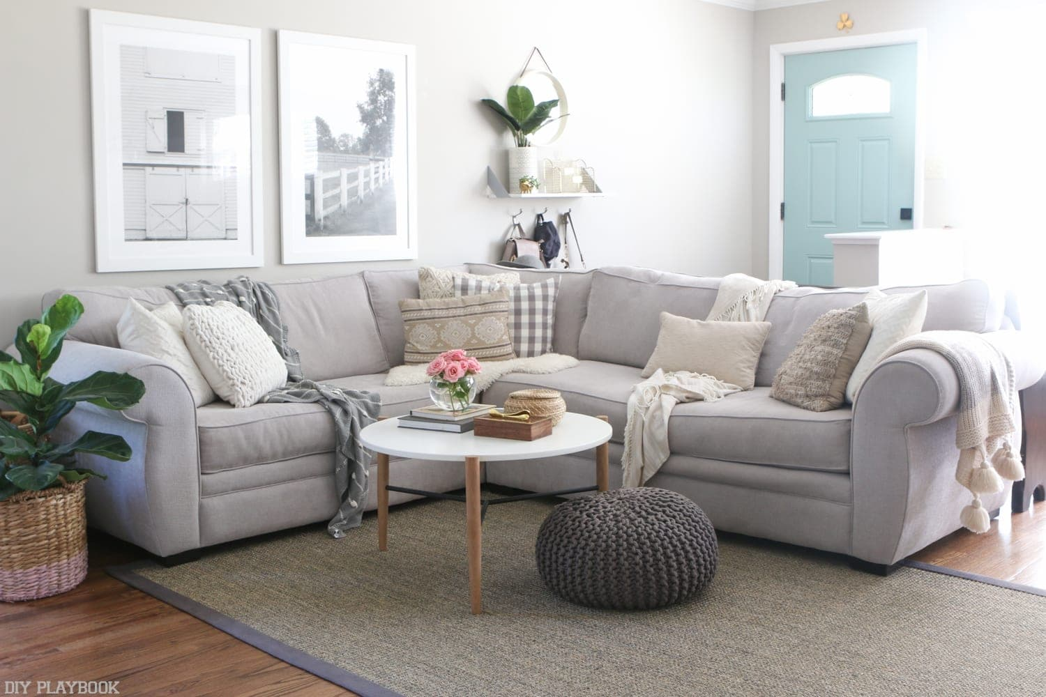 ... Add All Your Accent Pieces Back, And The Couch Feel Brand New Again!