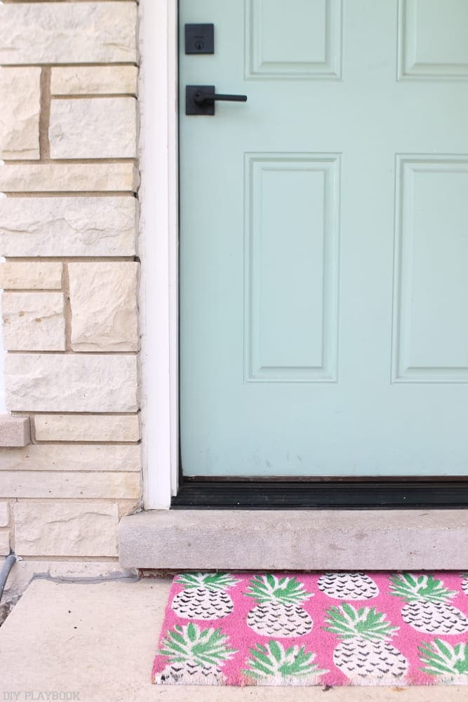 Bridget's front door- Covington Blue