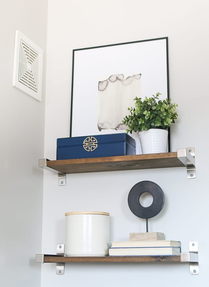 How to Style Bathroom Shelves Above the Toilet | DIY Playbook