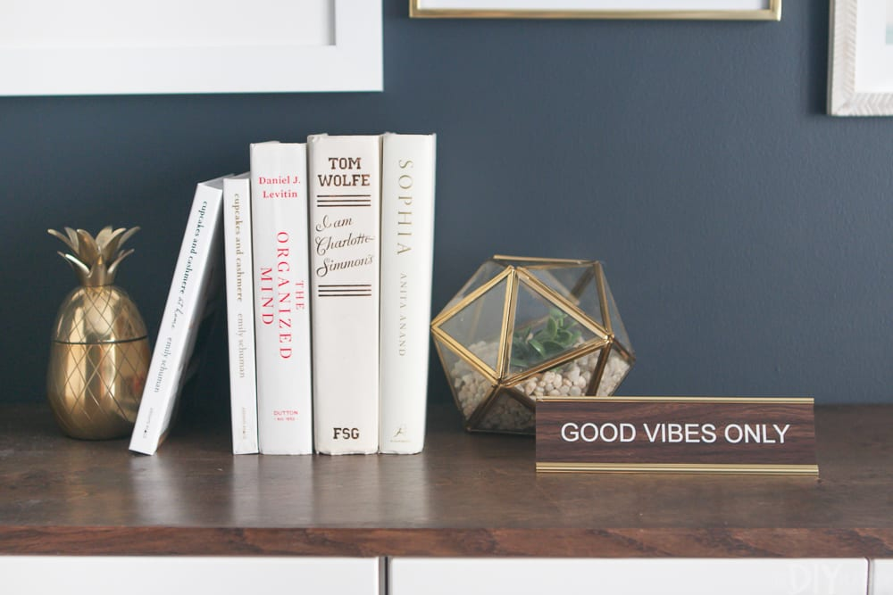 Nordstrom Home Decor: Gold Pineapple, Good Vibes Sign | DIY Playbook