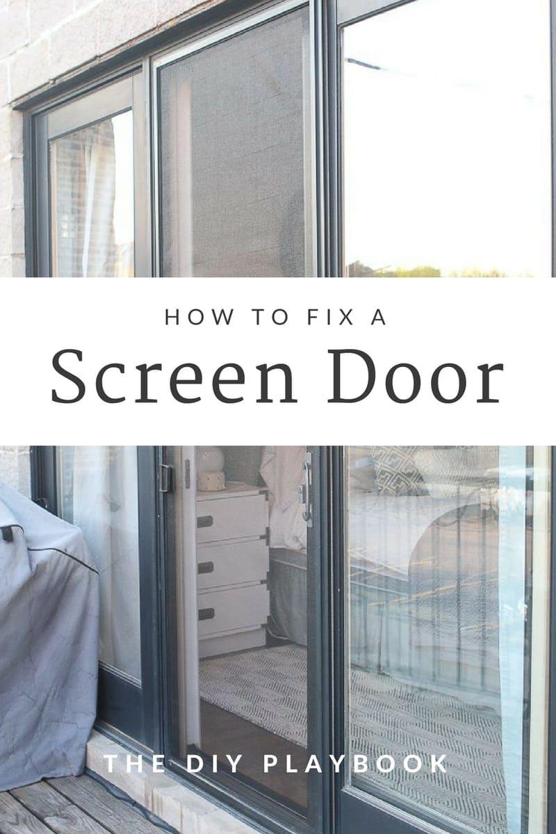 how to fix a screen door
