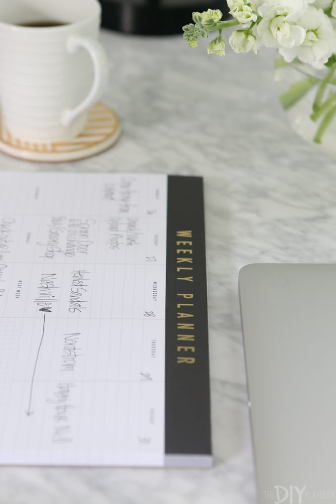 The Nordstrom Weekly Planner is the perfect size and style for my home office.