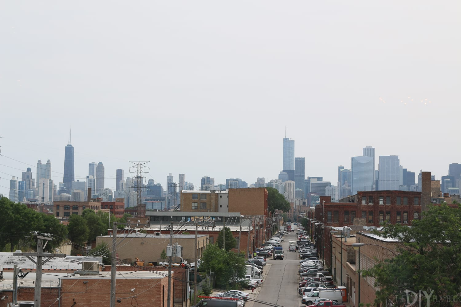 View of the Chicago skyline from Bloom Bash.