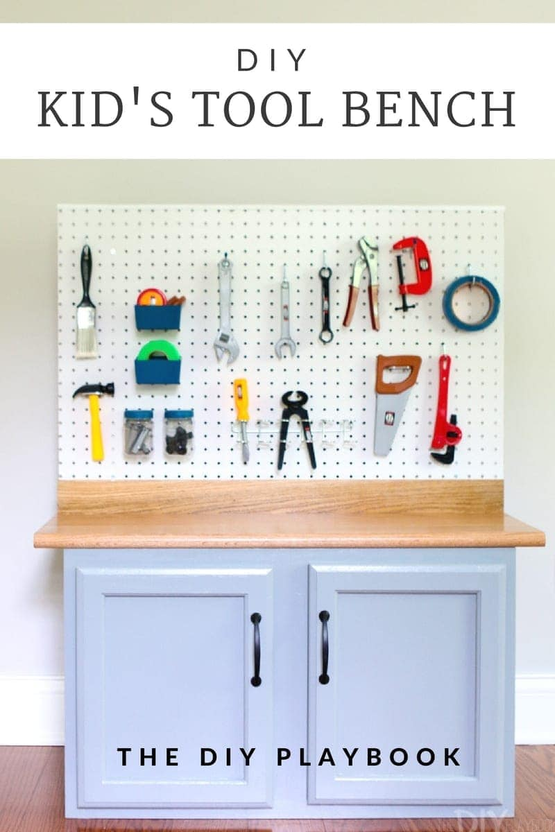 DIY Kids Tool Bench: Recreate this look: DIY Kid's Tool Bench: Step by Step Tutorial | DIY Playbook