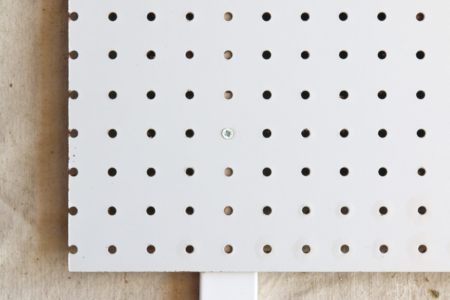 Secure the pegboard: DIY Kid's Tool Bench: Step by Step Tutorial | DIY Playbook