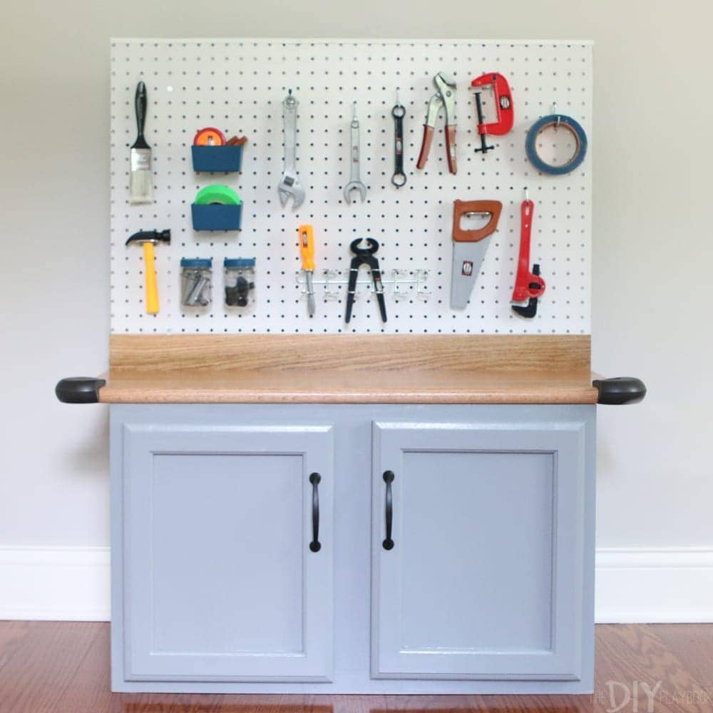 Add varnish: DIY Kid's Tool Bench: Step by Step Tutorial | DIY Playbook