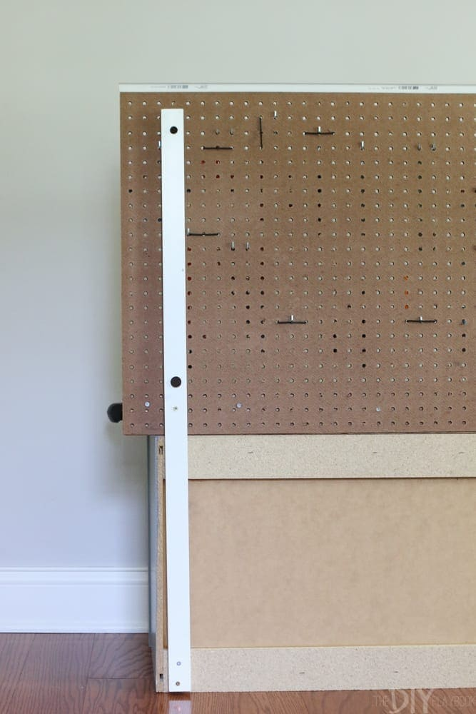 Attach the board: DIY Kid's Tool Bench: Step by Step Tutorial | DIY Playbook