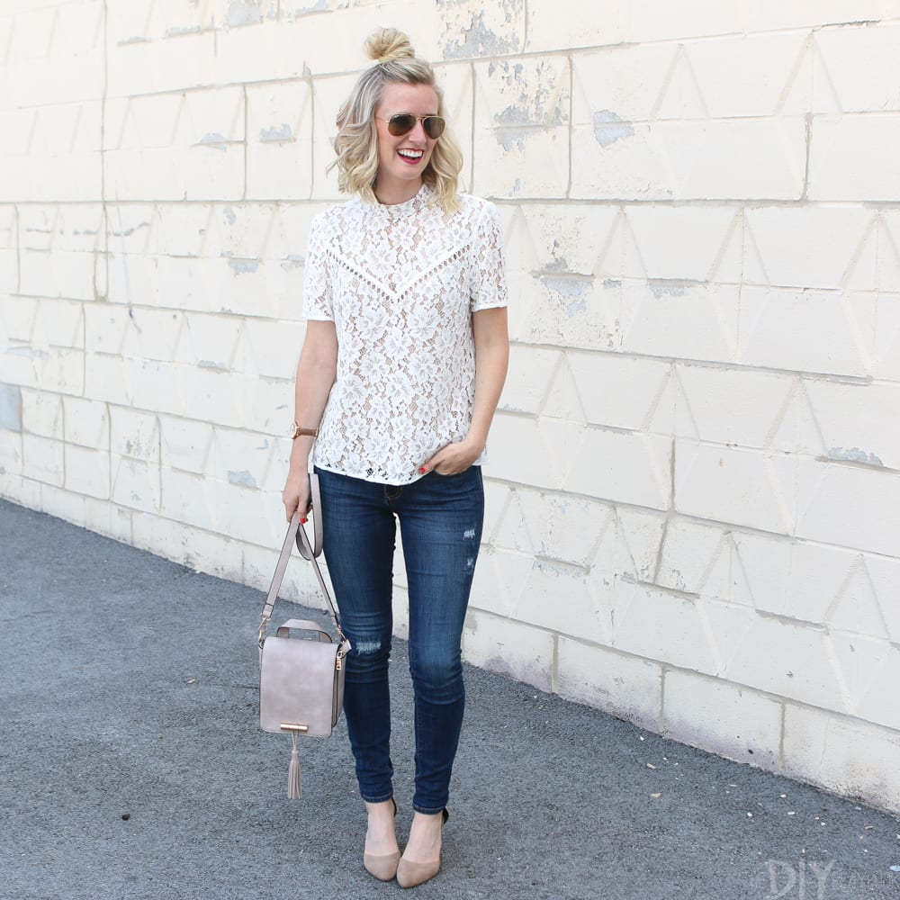 Nordstrom Anniversary Sale Ivory Lace Blouse