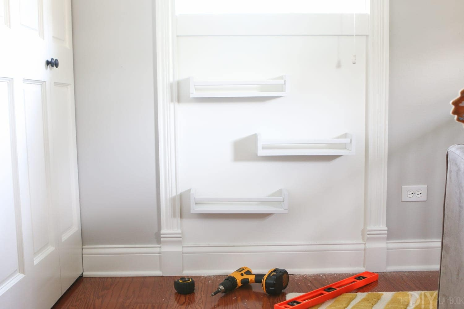 Stagger them:  DIY Bookshelves | DIY Playbook
