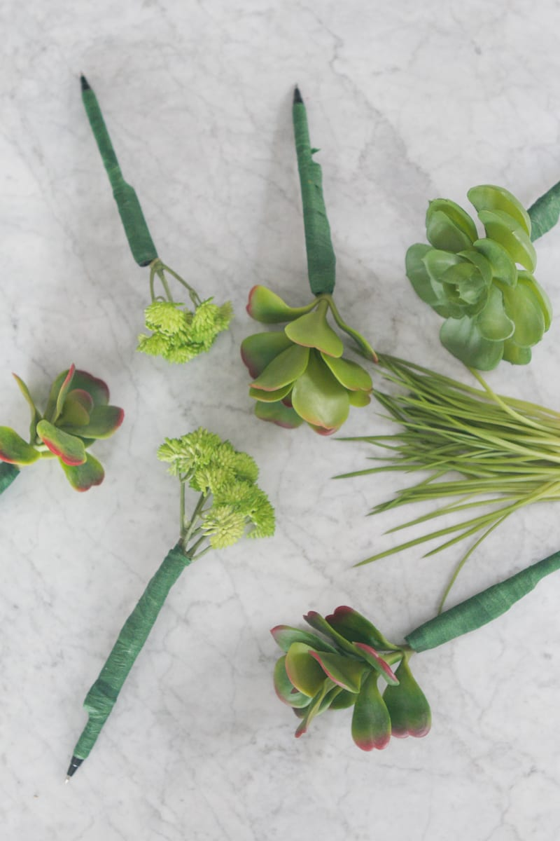 And repeat! Succulent Pens DIY Office Decor Project | DIY Playbook