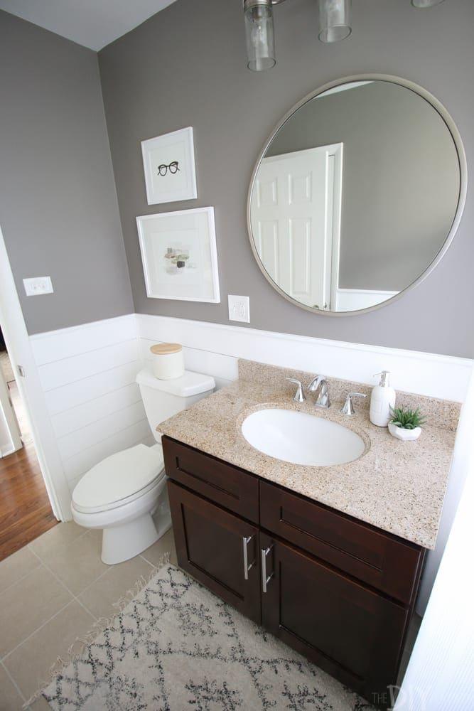 A Round Mirror In The Bathroom Diy