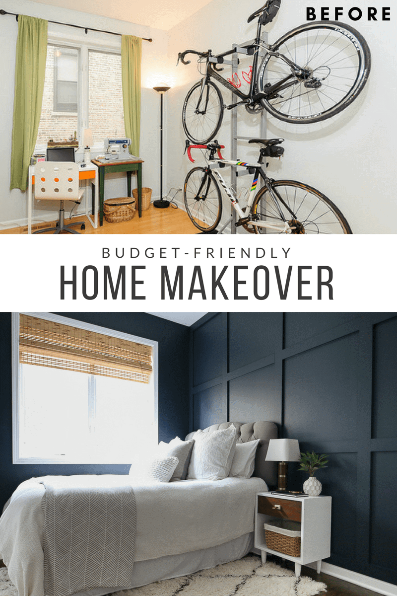 This Guest Bedroom before and after is just one part our our Chicago Condo Home Tour.