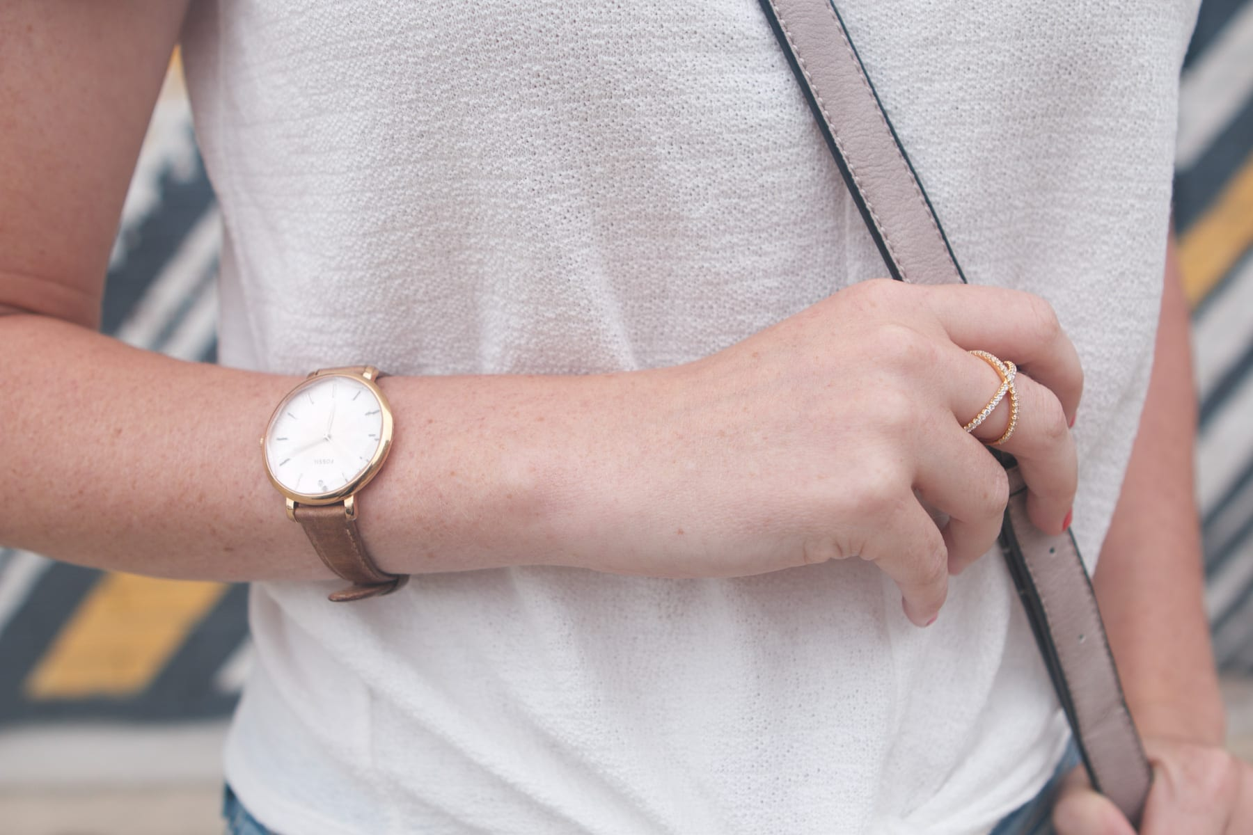 A neutral watch is a must have as well- timeless and elegant.