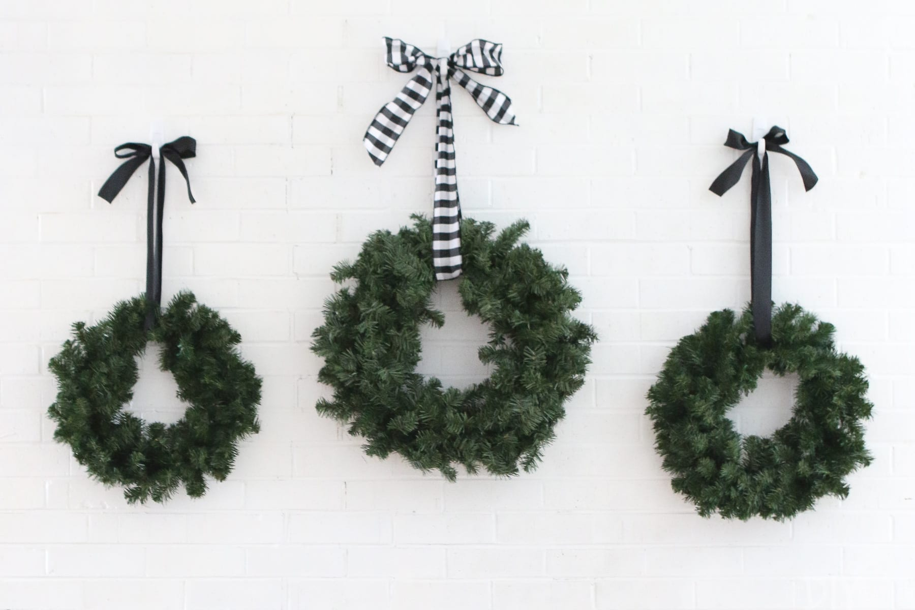 Black and White wreaths were just a bonus! Aren't they cute?