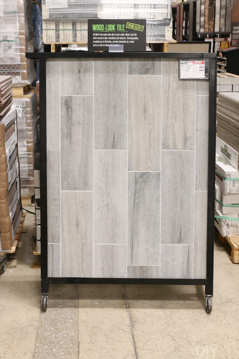 Choosing tile for the mudroom with floor and decor floor decor literally had two full aisles of options it was good for rookies like us because they clearly labeled which tiles could be indooroutdoor dailygadgetfo Choice Image