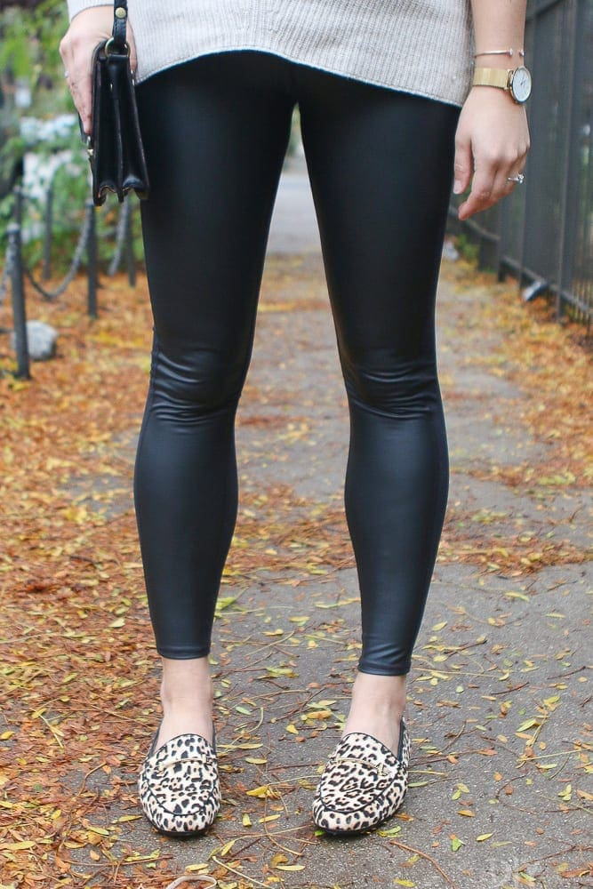 Comfy leather leggings