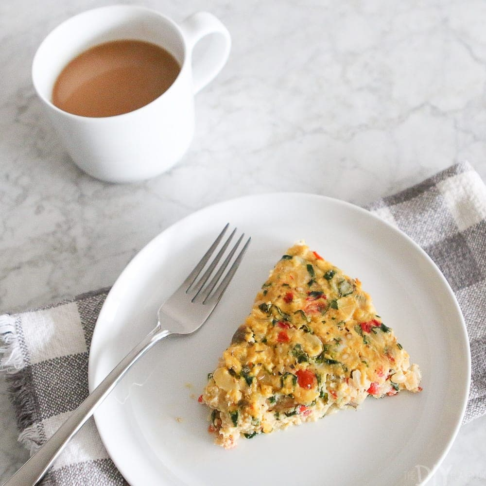 A delicious and simple vegetable frittata recipe