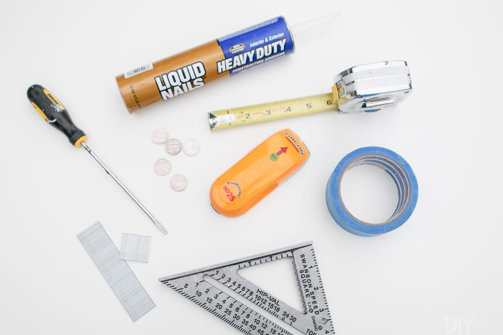 These are the tools you need to install a beautiful shiplap wall!