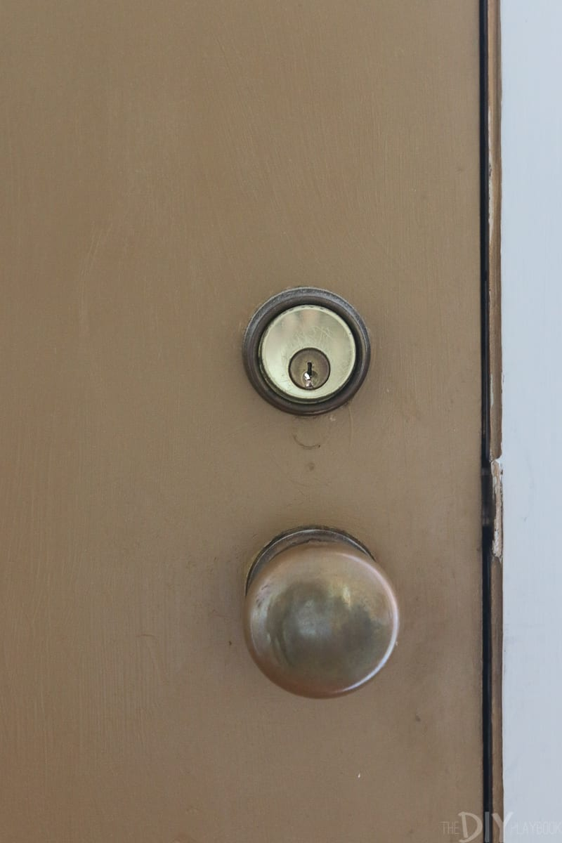 Old mortise lock on a front door