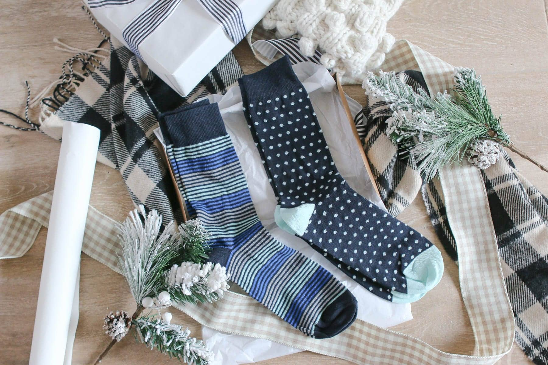 These $10 dress socks are the perfect gift for a stylish man in your life.