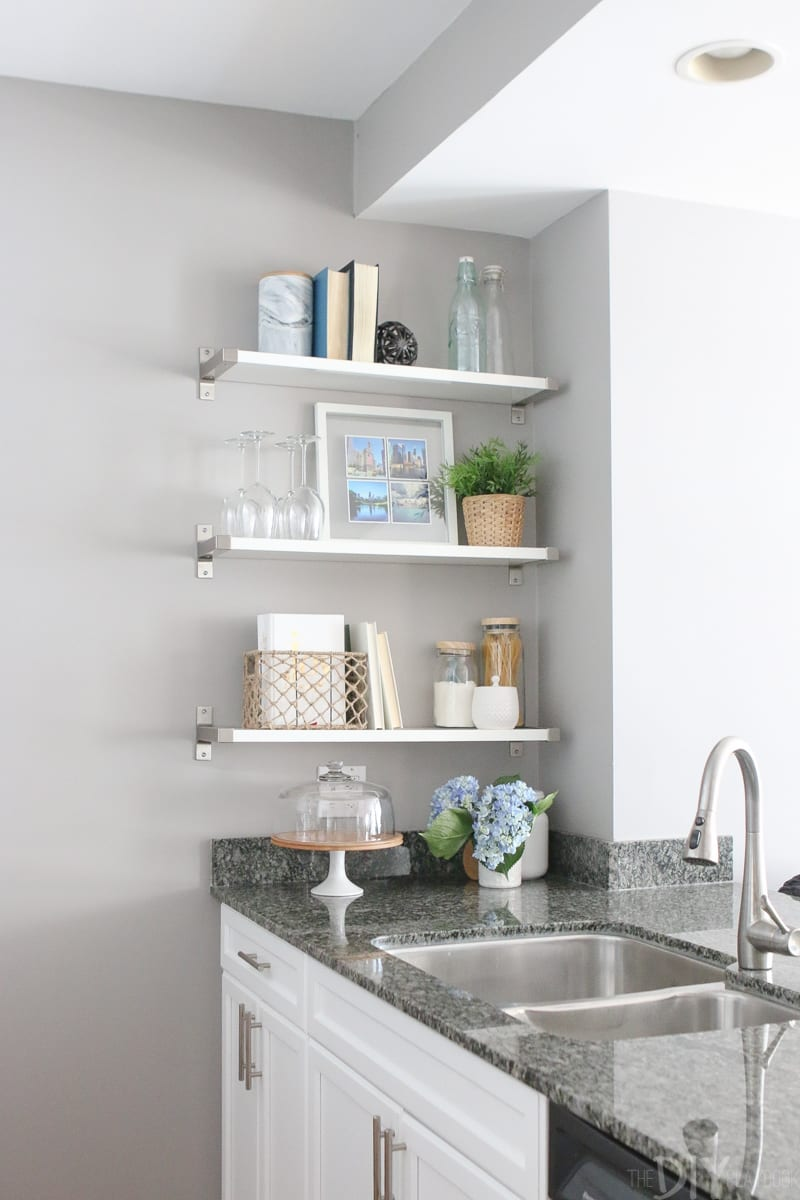 Can you believe these cute white shelves are from IKEA?