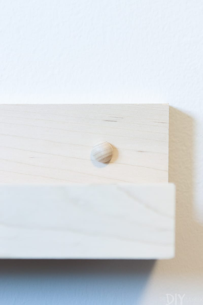 using wood buttons to hide screws