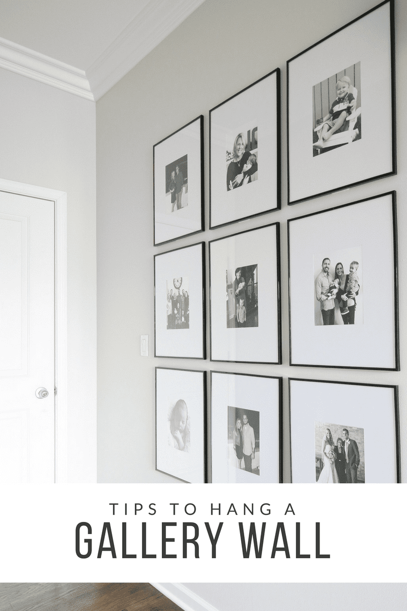Tips to Hang a Symmetrical Gallery Wall in your Hallway | The DIY ...