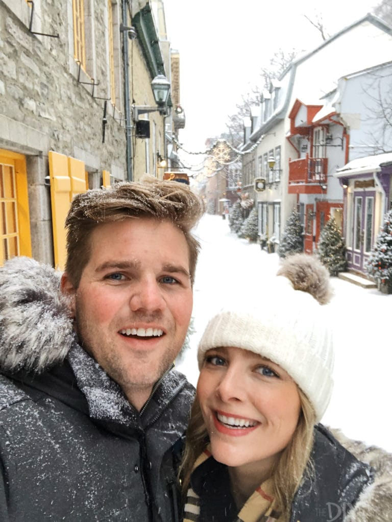 Casey and Finn in Quebec City