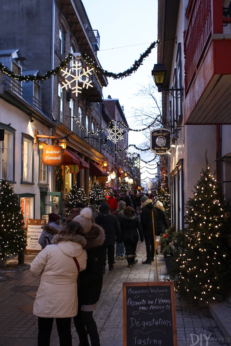 Christmas streets in Quebec City