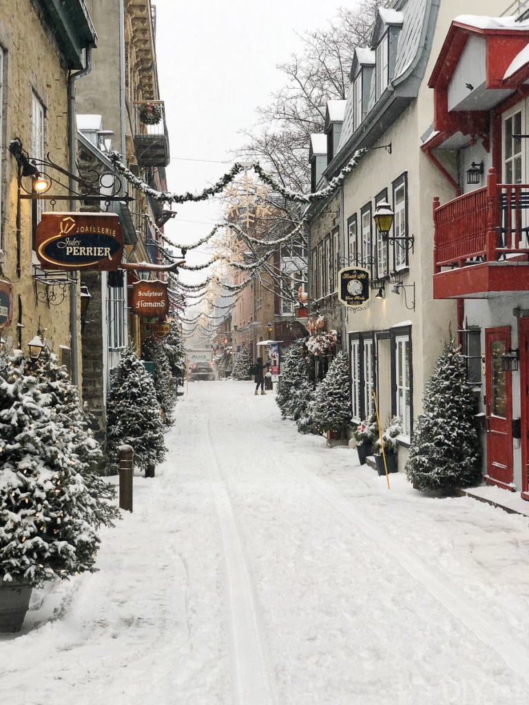 christmas village in Quebec City