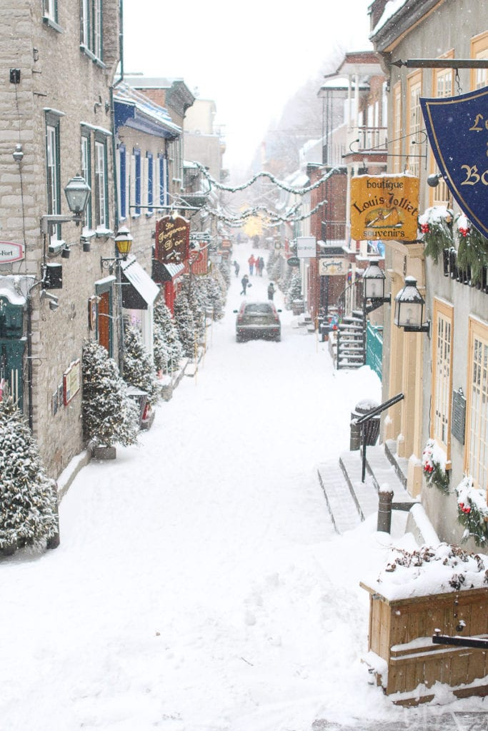 Streets in Quebec City