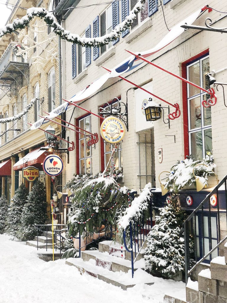 Storefronts in Quebec City