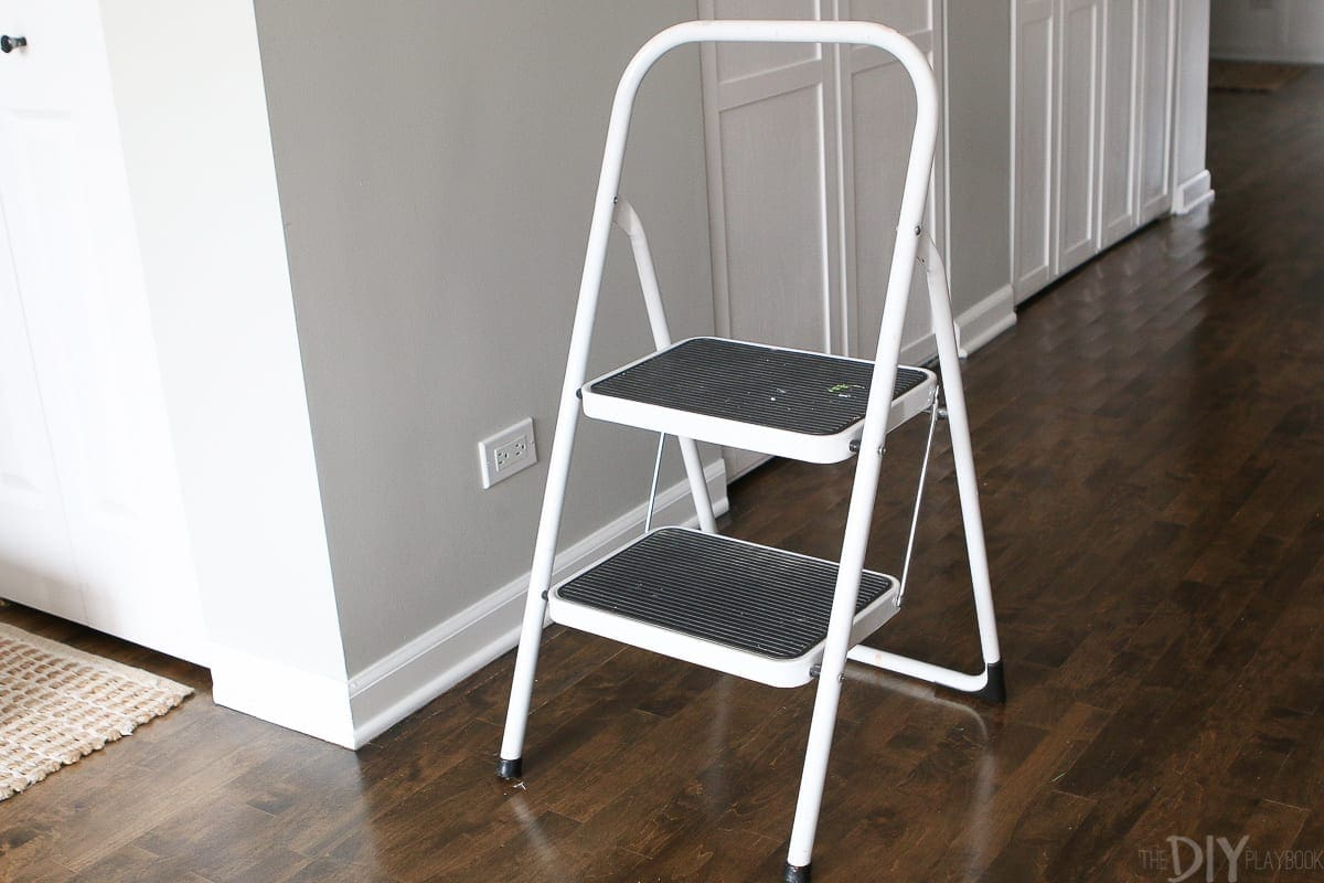 Use a step stool to workout