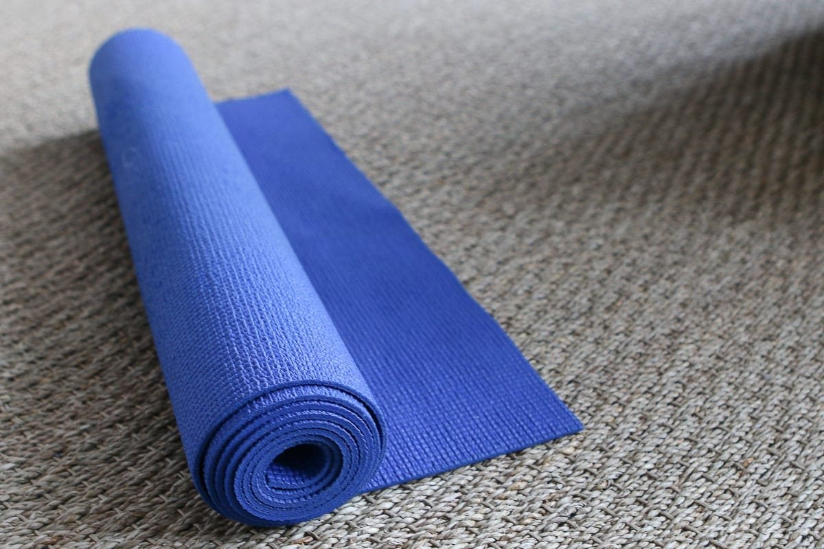 Yoga mat for at-home workout