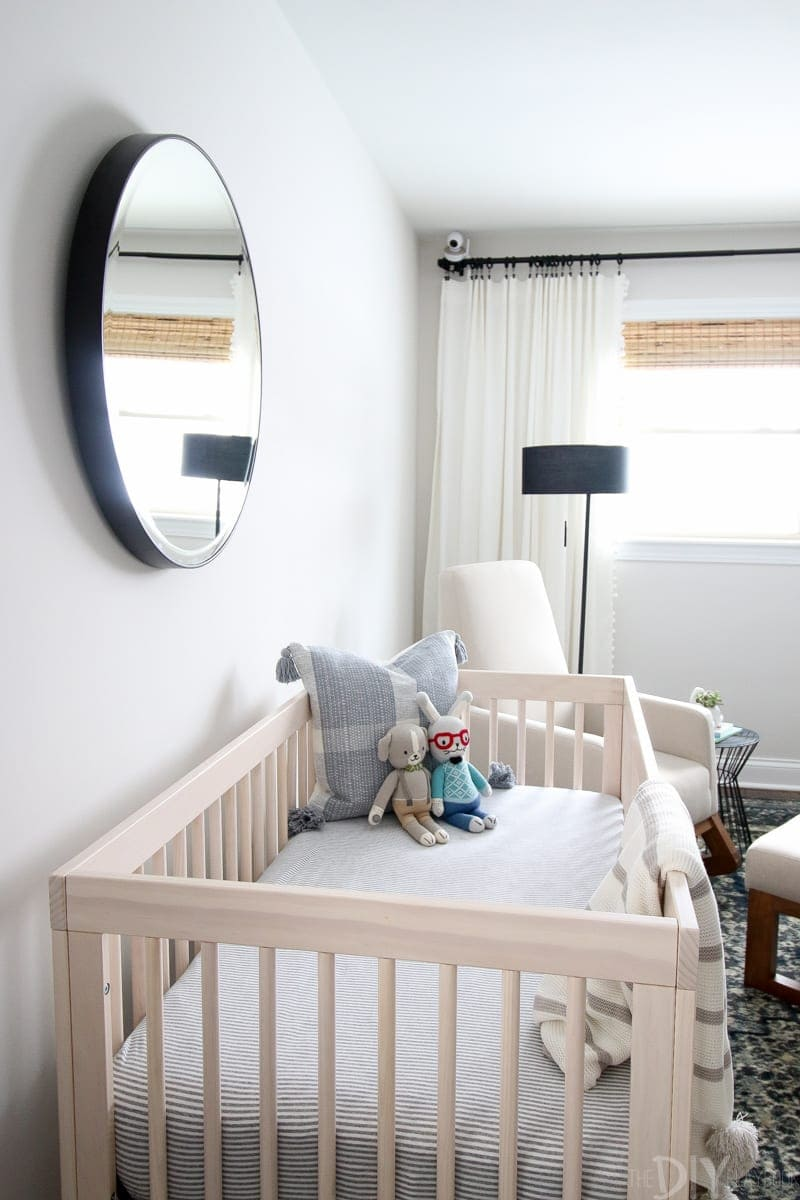 Neutral crib in nursery
