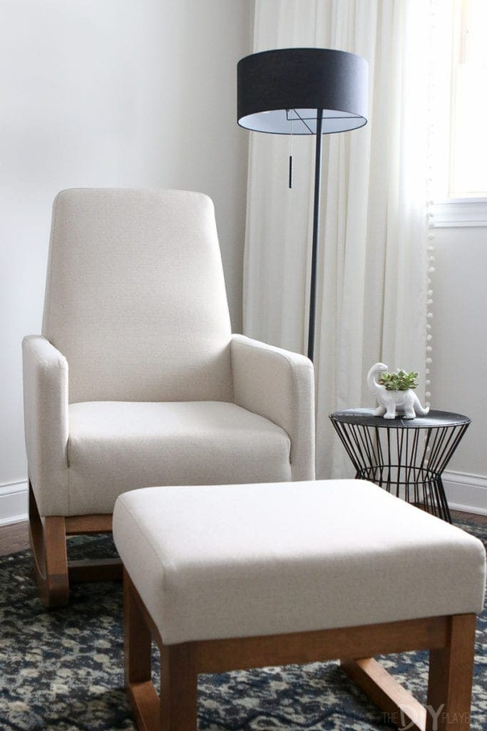 an honest review of this cream rocking chair in a nursery