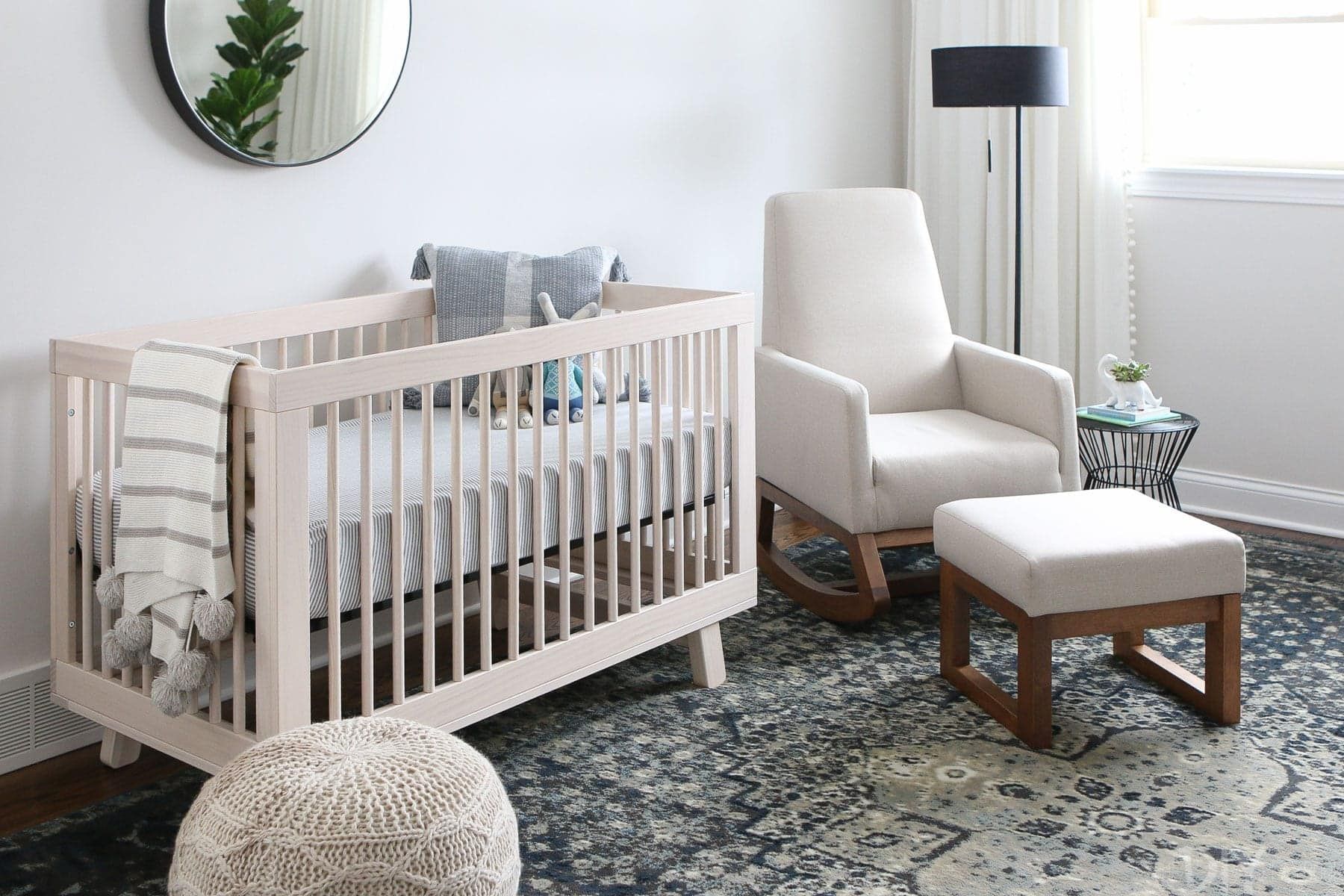 Babyletto Crib and an Amazon Rocker