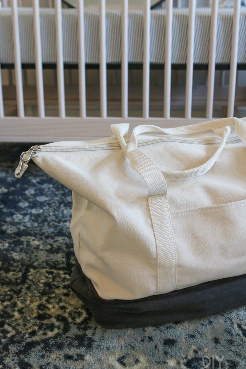 Lo & Sons Weekender doubles as a hospital bag with so much storage!