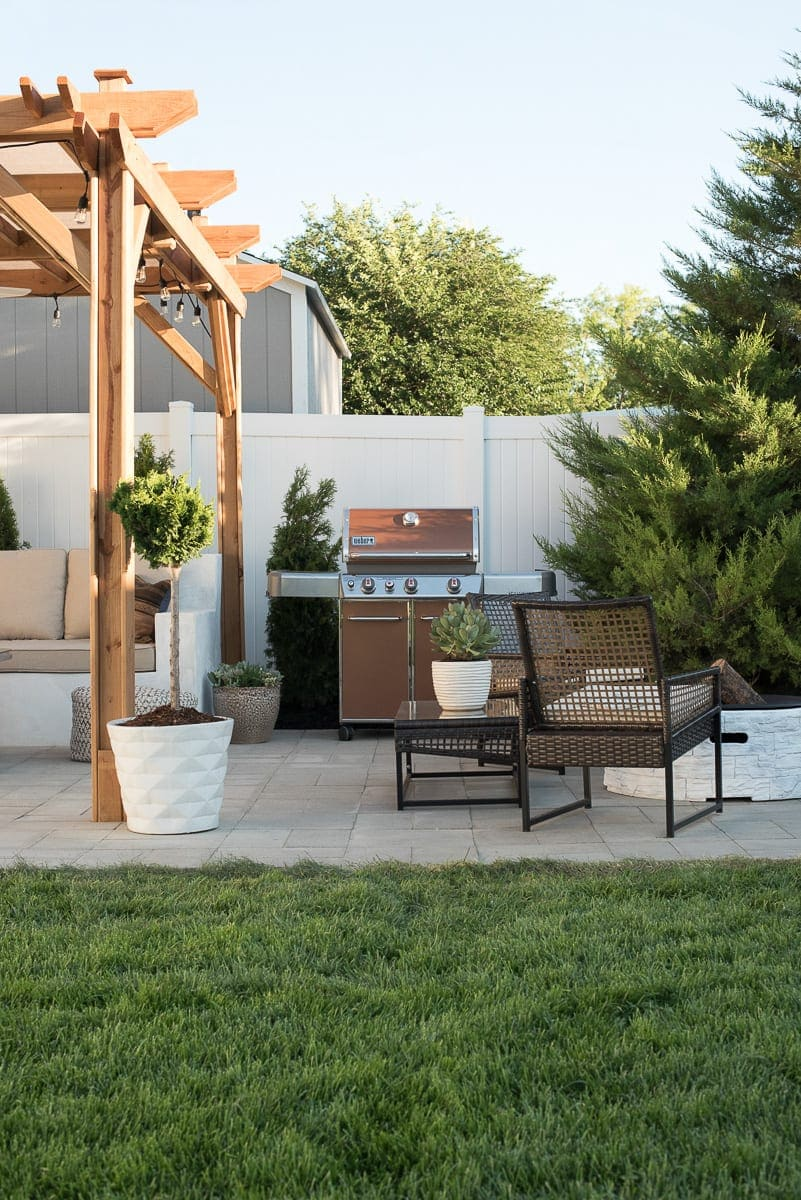 A DIY backyard space from the blog, Room for Tuesday.
