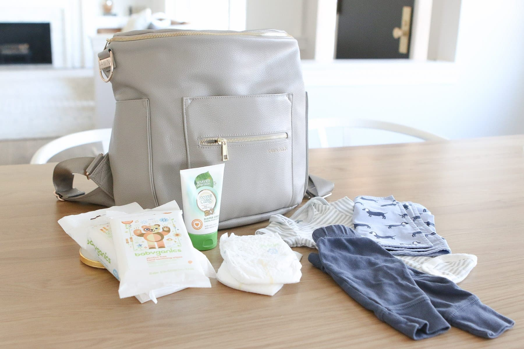 Packing a diaper bag