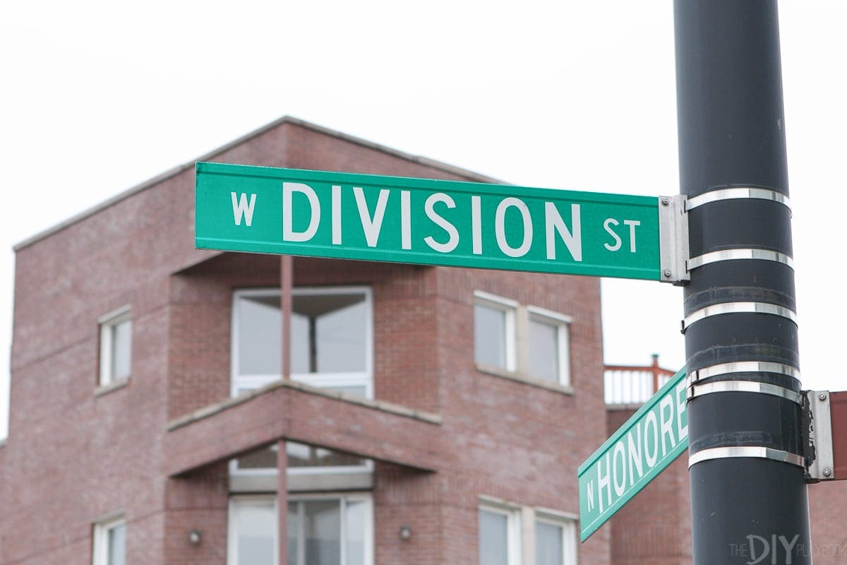 Division street in Ukrainian village is a favorite spot in the City of Chicago