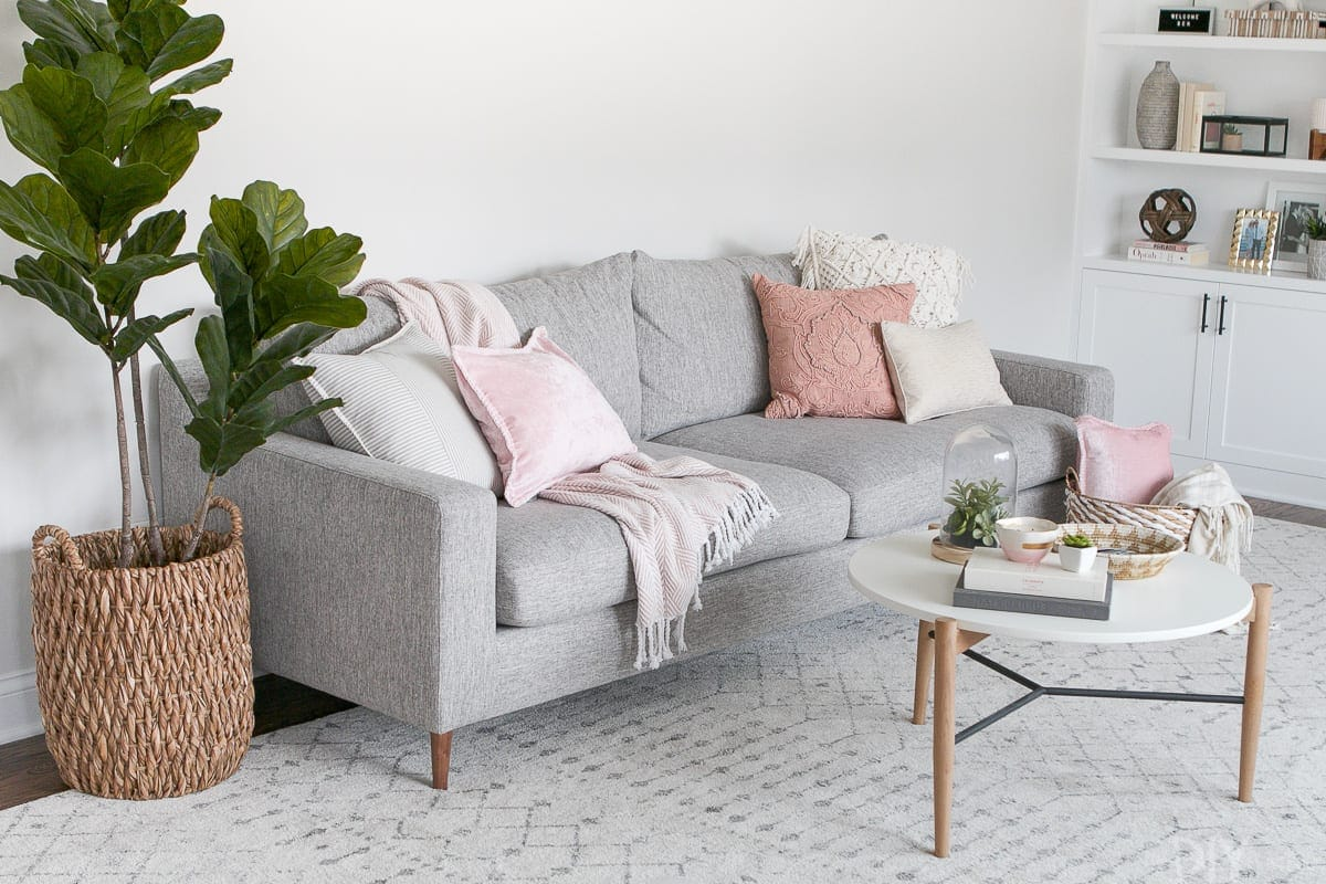 decorating a couch for spring