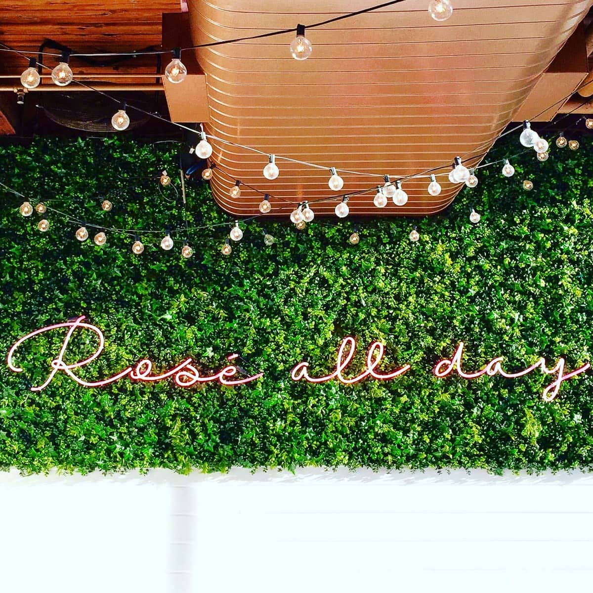 The rose all day sign at The Hampton Social in chicago is a great photo spot