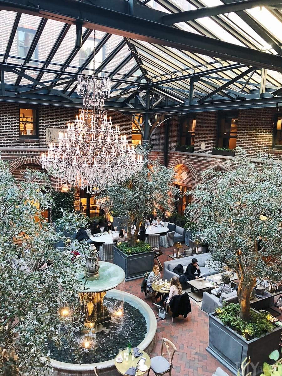 The 3 arts club cafe in Restoration Hardware is a favorite spot in Chicago