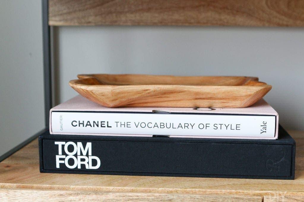Use books when styling bookshelves