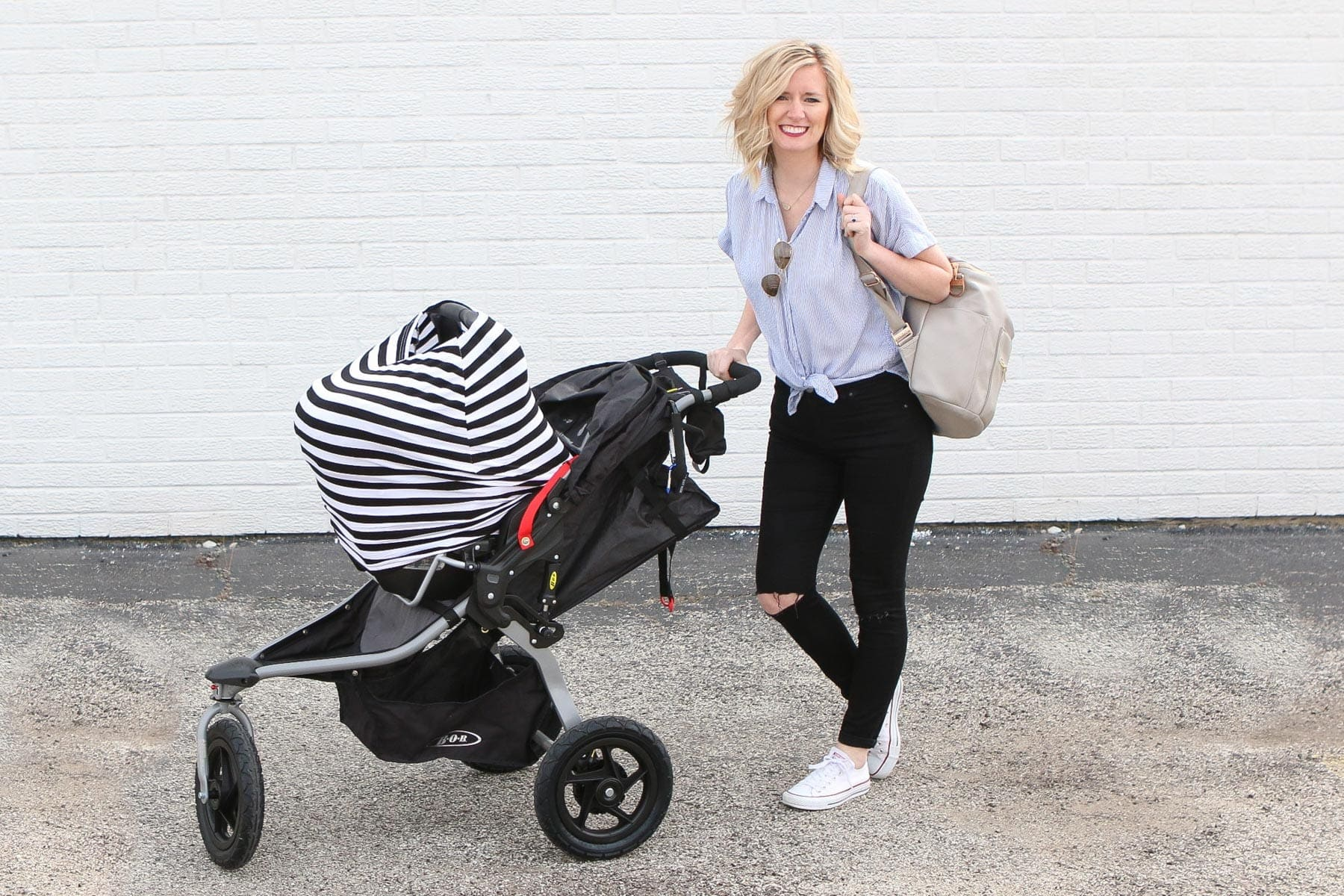 An honest review on the BOB stroller and how we've liked it with our newborn.